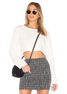 Lovers + Friends Arlo Sweatshirt in White. - size L (also in M,S,XL, XS, XXS)