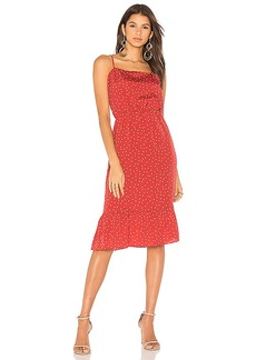 Lovers + Friends x REVOLVE Basil Midi in Red. - size M (also in S,XS)