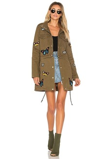 Lovers + Friends x REVOLVE Butterfly Parka in Green. - size M (also in S,XS)