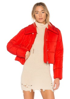 Lovers + Friends x REVOLVE Candy Cropped Puffer in Red. - size S (also in L,M,XL, XS, XXS)