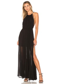 Lovers + Friends x REVOLVE Ezra Gown in Black. - size L (also in M,S,XS)