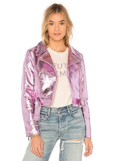 Lovers + Friends x REVOLVE Grant Jacket in Pink. - size L (also in XXS, XS,S,M)