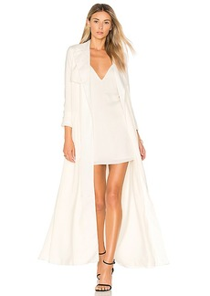 Lovers + Friends x REVOLVE Late Evening Trench in Ivory. - size L (also in XS,S,M)