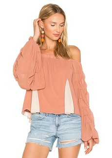 Lovers + Friends x REVOLVE Laura Blouse in Tan. - size M (also in S,XS)