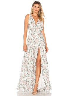 Lovers + Friends x REVOLVE Leah Gown in Sage. - size 4 (also in 0)