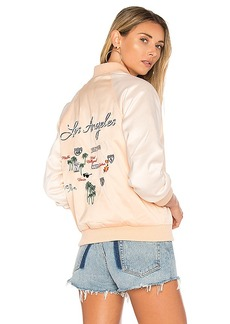 Lovers + Friends x REVOLVE Roadtrippin Bomber in Beige. - size L (also in M,S,XS)