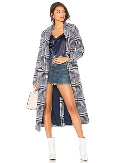 Lovers + Friends x REVOLVE Sabra Coat in Blue. - size L (also in M,S,XS)