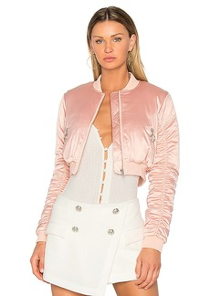 Lovers + Friends x REVOLVE Short Love Bomber in Blush. - size L (also in M,S,XL, XS)