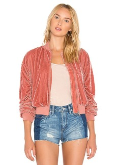 Lovers + Friends x REVOLVE The Leighton Bomber in Rose. - size L (also in M,S,XS)