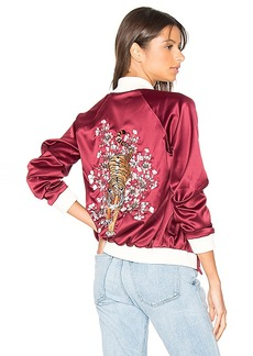 Lovers + Friends x REVOLVE The Nomad Bomber in Red. - size M (also in L,S,XS)