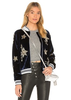 Lovers + Friends x REVOLVE The Starry Bomber in Navy. - size L (also in M,S,XS, XXS)