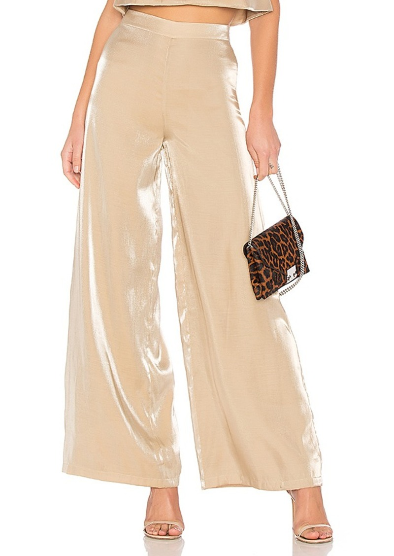 Slash Pants in Metallic Gold. - size S (also in L,M,XS) Lovers + Friends