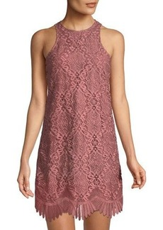 Lovers + Friends Lovers And Friends Caspian Lace High-Neck Dress