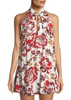 Lovers + Friends Lovers And Friends City Streets Tie-Neck A-line Dress