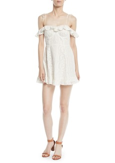 Lovers + Friends Kate Off-the-Shoulder Ruffle Eyelet Dress