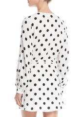 Lovers + Friends Maggie Polka-Dot Long-Sleeve Wrap Dress