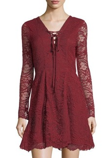 Lovers + Friends Lovers And Friends Mercury Lace-Up Minidress