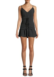 Lovers + Friends Pax Corset-Waist Sleeveless Mini Dress