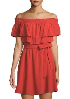 Lovers + Friends Lovers And Friends Suntime Off-The-Shoulder Ruffled Dress