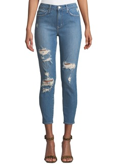 Lovers + Friends Mason Distressed Mid-Rise Skinny Jeans