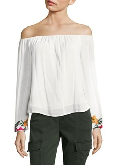 Lovers + Friends Over the Sea Off-The-Shoulder Top
