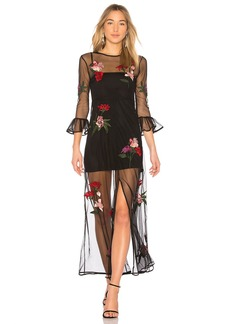 Lovers + Friends Tallon Embroidered Maxi