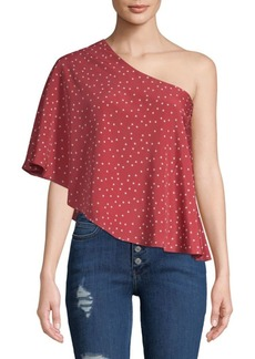 Lovers + Friends Willow Star One-Shoulder Top
