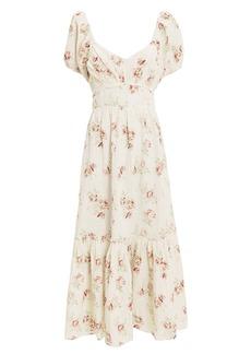 LoveShackFancy Angie Floral Maxi Dress