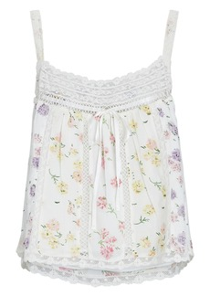LoveShackFancy Aston Floral Cotton Camisole