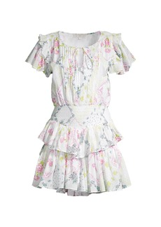 LoveShackFancy Audette Tiered Ruffle Dress