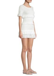 LoveShackFancy Aveline Ruffle Mini Dress