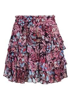 LoveShackFancy Benicia Floral Mini Skirt