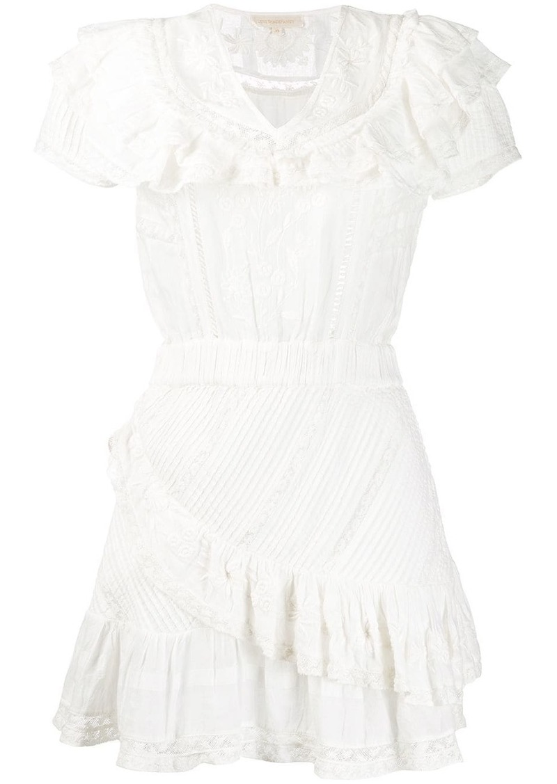 LoveShackFancy Bonita embroidered ruffled dress