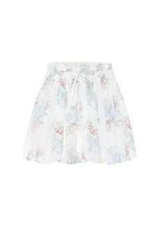 LoveShackFancy Cheyenne floral cotton miniskirt