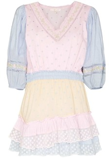 LoveShackFancy Consuela puff-sleeve mini dress