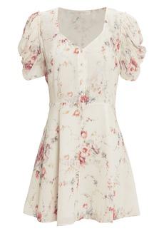 LoveShackFancy Cora White Mini Dress