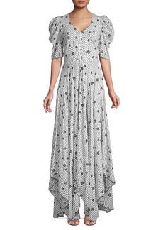 LoveShackFancy Coralie Floral Button-Down Maxi Dress
