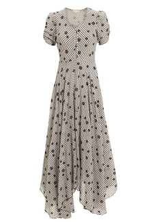 LoveShackFancy Coraline Gingham Embroidered Maxi Dress