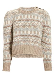 LoveShackFancy Cropped Fairisle Sweater