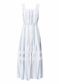 LoveShackFancy Eve Striped Maxi Dress