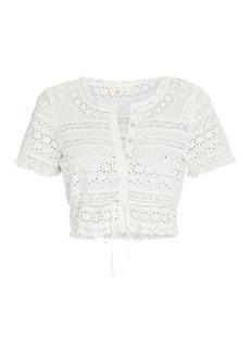 LoveShackFancy Farley Lace Crop Top