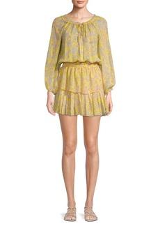 LoveShackFancy Floral Mini Dress