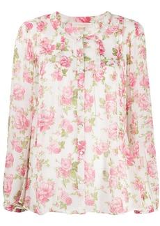 LoveShackFancy Goodwin floral silk blouse