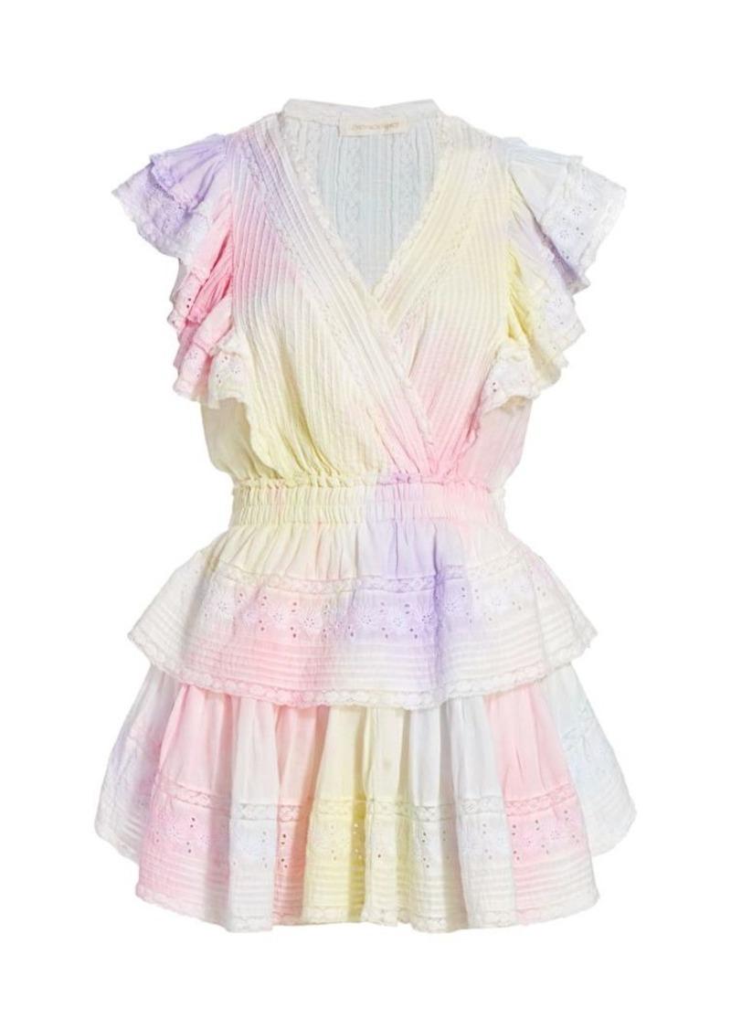 LoveShackFancy Gwen Ruffle Mini Dress