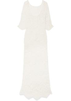 LoveShackFancy Helen Crocheted Lace Maxi Dress