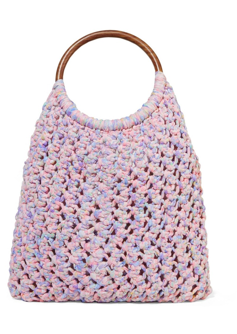 Jojo Crocheted Cotton Tote