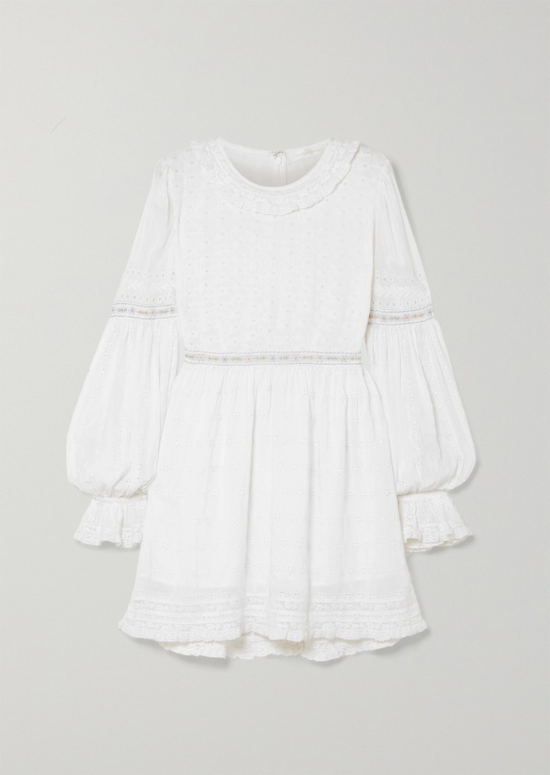 Jullian Broderie Anglaise Cotton Mini Dress
