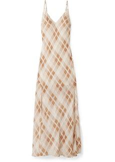 LoveShackFancy Kate Ruffled Plaid Silk-jacquard Maxi Dress