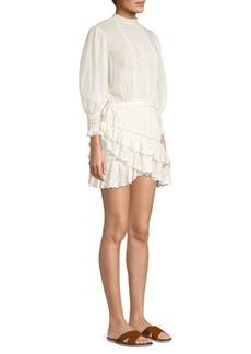 LoveShackFancy Lorelei Puff-Sleeve Mini Dress