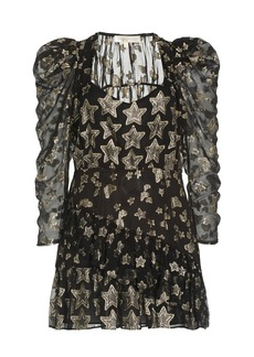 LoveShackFancy - Women's Caden Metallic Fil Coupe Mini Dress - Black - Moda Operandi